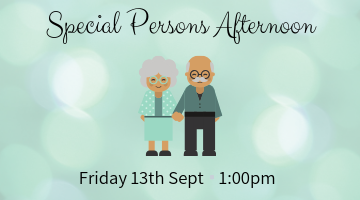 Special Persons Afternoon Form